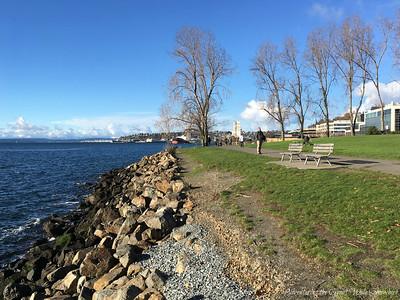 Waterfront Trail at Myrtle Edwards Park in Seattle, Washington