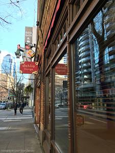 Street Entrance to the Dahlia Lounge in Seattle, Washington