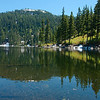 That's the Bandera Mountain's false summit, from the far side of Mason Lake. It's harder to get up there than it looks.