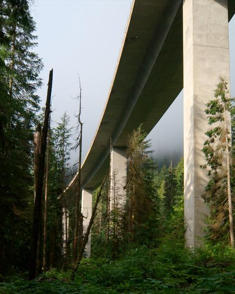 The hike starts off by going under I-90.