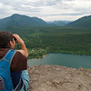 We remembered to take the binoculars this time, so we got it out on the ledge.