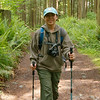"Michelle tried out my trekking poles on the way back via the ""Old Railroad grade trail""."