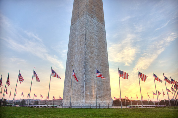 A Beautiful Sunrise at the Monument