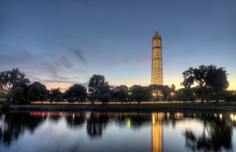 Washington Monument Scaffolding at Sunrise