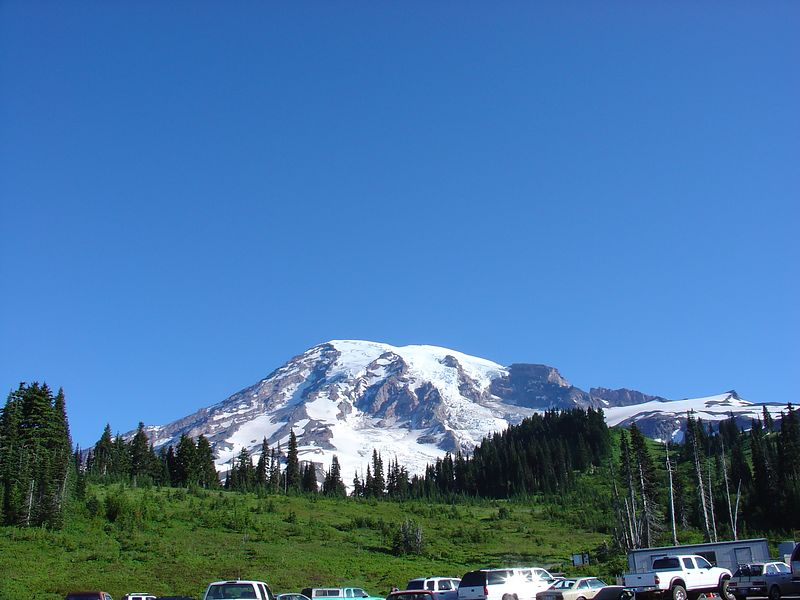 Mt. Rainier from the Paradise parking lot.