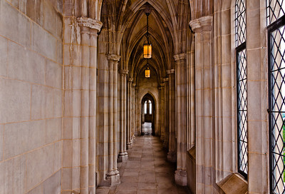 Hallway in the Washington National Cathedral, Washington, DC