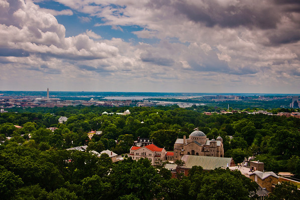 View of Washington DC from the Washington National Cathedral