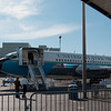 A plane that flew President Kennedy around once. Taken as we waited in line to board the Concorde.