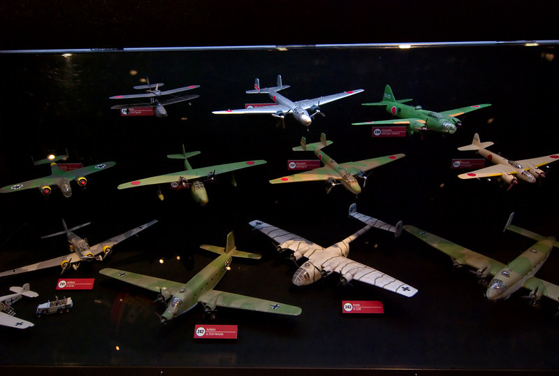 I have a model plane fetish. Incidentally, these are all custom models this one dude built up just for the museum.
