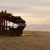 The Peter Eiredale Shipwreck. Oregon Coast