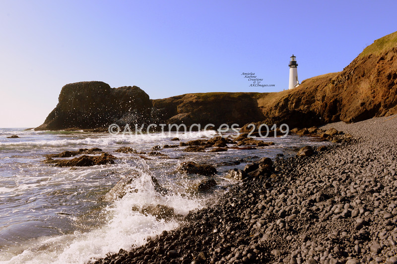 'Surf Splash'  @ Yaquina Head Light House, Newport Oregon