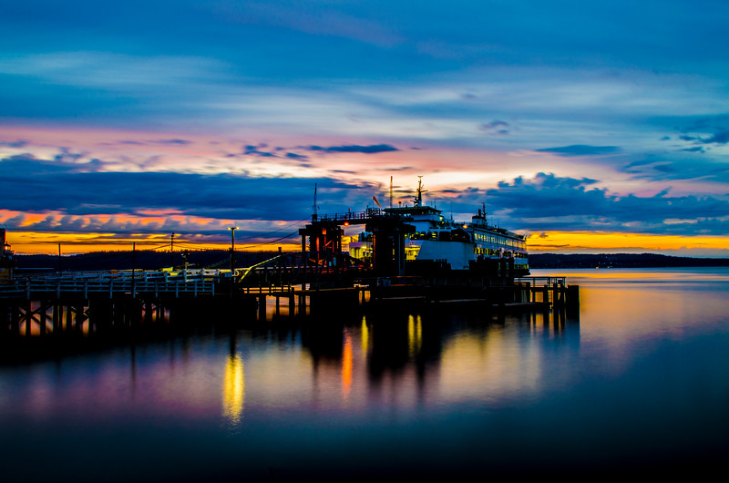 Mukilteo Ferry at Sunset