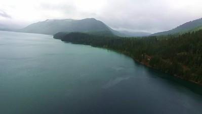 Kachess Lake in the rain