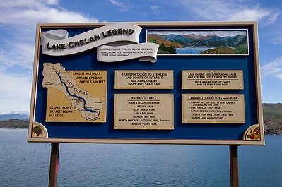 Sign at Lake Chelan