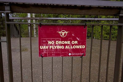 3 No-drone sign at Snoqualmie Falls