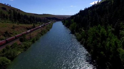 1-Chasing that durned train along Yakima River