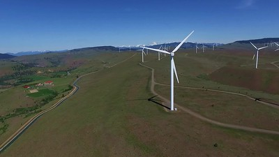 6 Wind turbines and farms along Yakima River