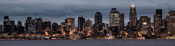 Seattle skyline predawn.