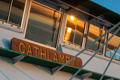 Washington State Ferry catching the morning rays