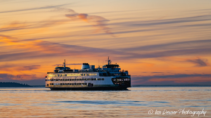 MV Spokane under pastel skies