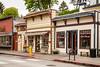 Storefronts on Main street of La Conner, Washington, USA.