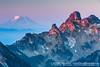 Mt. Adams as seen from Dege Peak & Sourdough Ridge Trail, Mt.Rainier N.P.