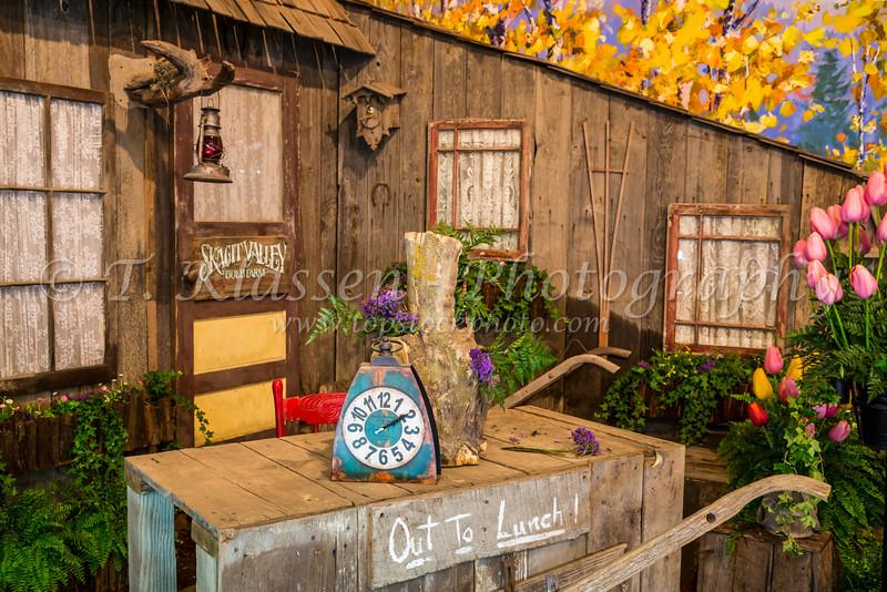 The Tulip Town store near Mount Vernon, Washington, USA.