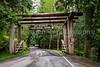 Entrance sign to Mt. Ranier National Park, Washington, USA.