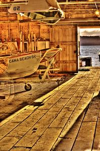 Cama Boathouse: at Cama Beach State Park.
