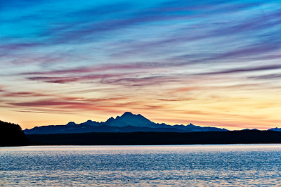 Mt. Baker at Dawn: viewed across Saratoga Passage