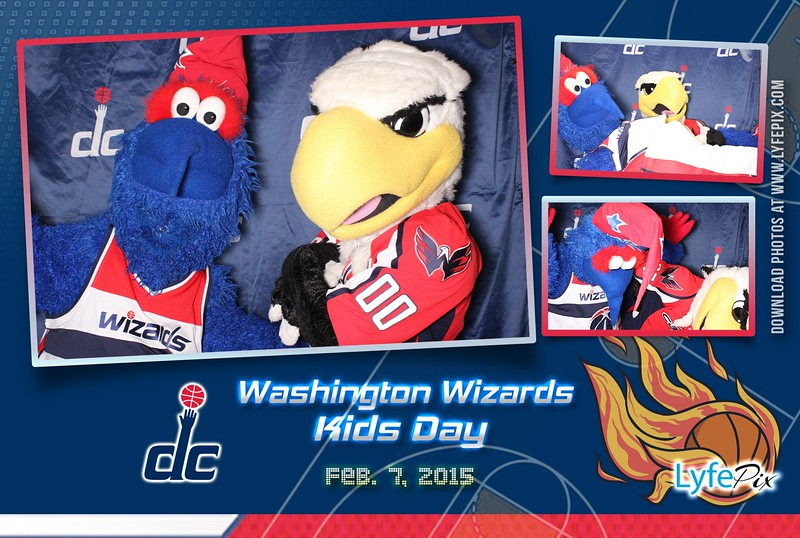 Custom photo postcard design for the Washington Wizards