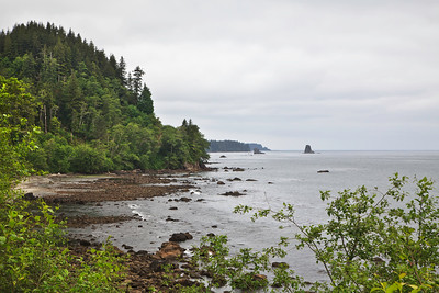 Strait of Juan de Fuca shoreline along the Olympic Peninsula
