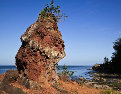 Strait of Juan de Fuca shoreline along the Olympic Peninsula
