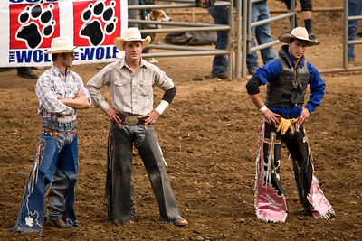 Some of the bull riders.