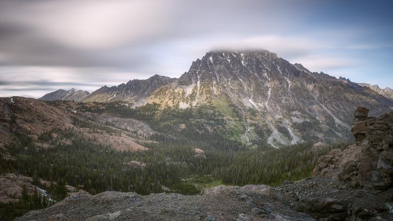 Stuart, Ingalls - Long exposure clouds and Mt. Stuart