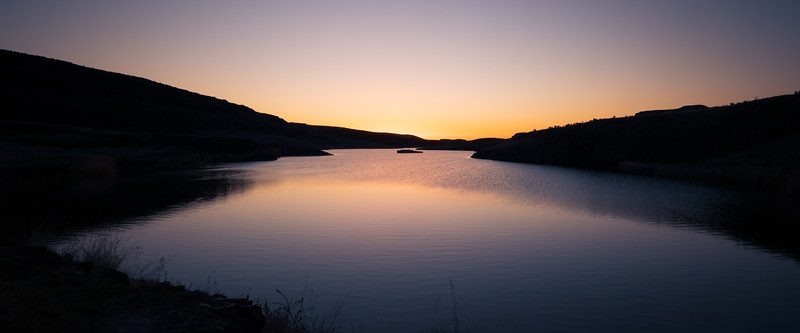 Columbia, Potholes - Sunrise over Blythe Lake