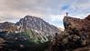 Stuart, Ingalls - Man on rock with arms up overlooking Mt. Stuart