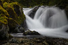 Kittitas, Kachess Beacon - Close up of waterfall with mossy rocks