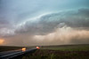 Columbia, Othello - Dangerous and angry looking thunderstorm clouds from supercell