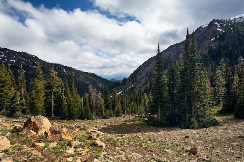 Kittitas, Bean Creek - View down the valley