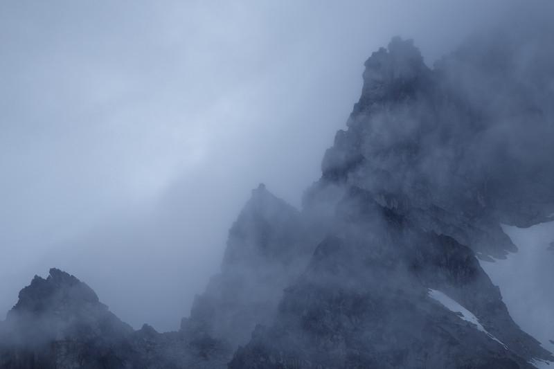 Stuart, Ingalls - West Ridge of Stuart in a storm