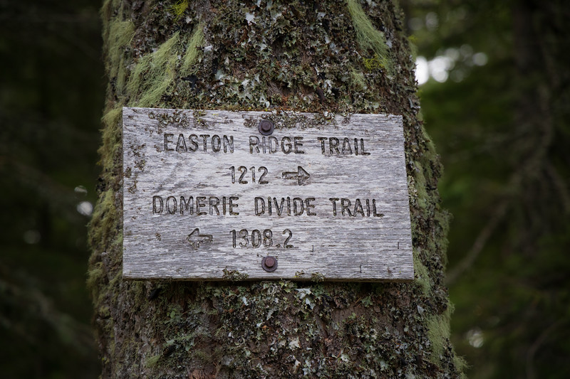 Kittitas, Mt. Baldy - Easton Ridge and Domerie Divide Trail sign