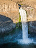 Palouse, Palouse Falls - Waterfall half in sun and half in shade