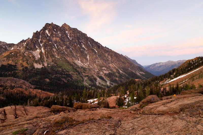 Stuart, Ingalls - Headlight Basin after sunset