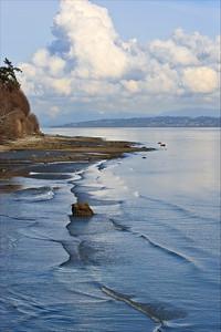 Coastal bluffs and shoreline