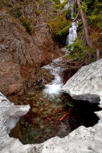 Corinne and I stopped at this location first, what a great spot to capture some runoff and melting snow!