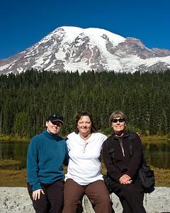 Mom, Sue, and I at Reflection Lake.