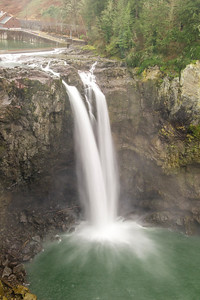 Snoqualmie Falls, winter spill levels still low