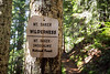 Whatcom, Yellow Aster Butte - Mt. Baker Wilderness sign on trail