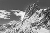 Washington Pass, Overlook - Early Winters Spire with a dusting of snow, black and white